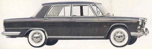 1967 Fiat 2300 saloon: fins?