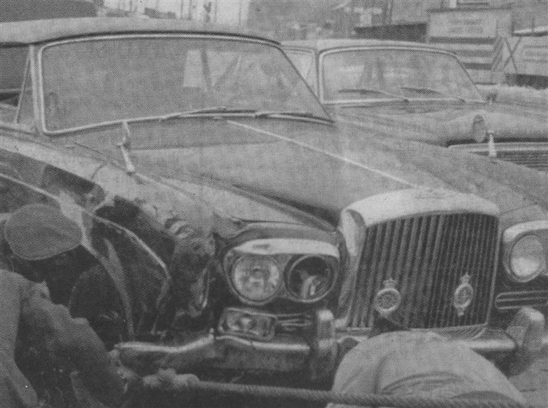 1965 Bentley T wrecked