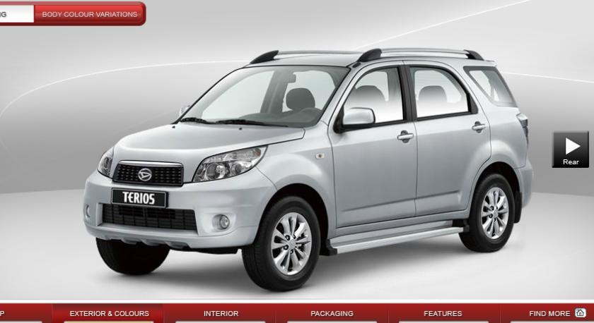 2014 Daihatsu Terios 7 seater