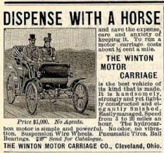 1898 adver for Winton. It´s horseless.