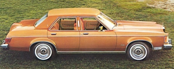 "1977 Lincoln Versailles: ""Now, a car with a 110-inch wheelbase, with a superb luxury car ride."""