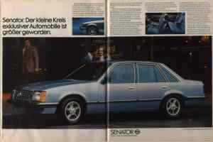 1978 Opel Senator: no V8 to had.
