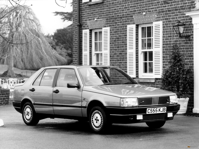 1986 Fiat Croma 2.0 i.e., a car from the days when Fiat could sell a moderately large family car.