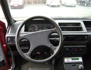 1991 Fiat Tipo interior: no digital fun here
