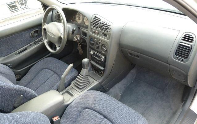 1996 Mitsubishi Galant interior. Grey and generic.