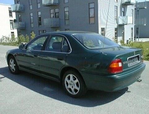 1996 Rover silhouette.
