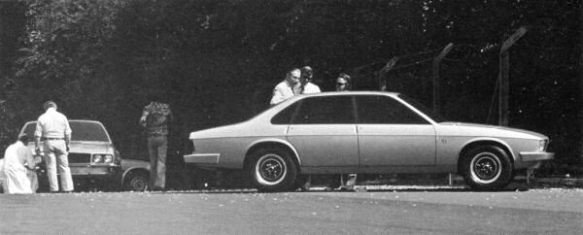 Bob Knight & Doug Thorpe examine an XJ40 styling proposal during the summer of 1976.