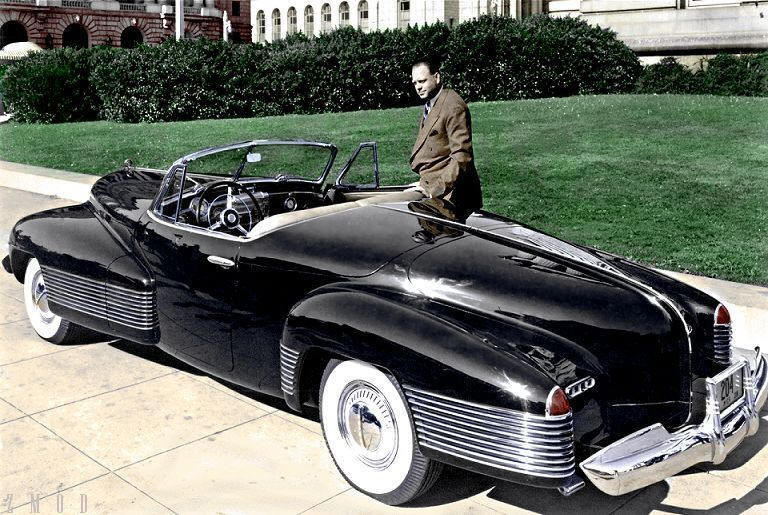 1938 Buick Y-Job with Harley Earl.