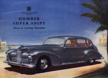1953 Humber Super Snipe 2: an idea of how much concept cars in the 50s differed from production cars.