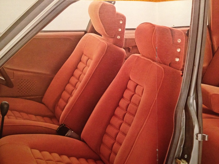 Fine upholstery in the 1974 Citroen CX 2200 Super