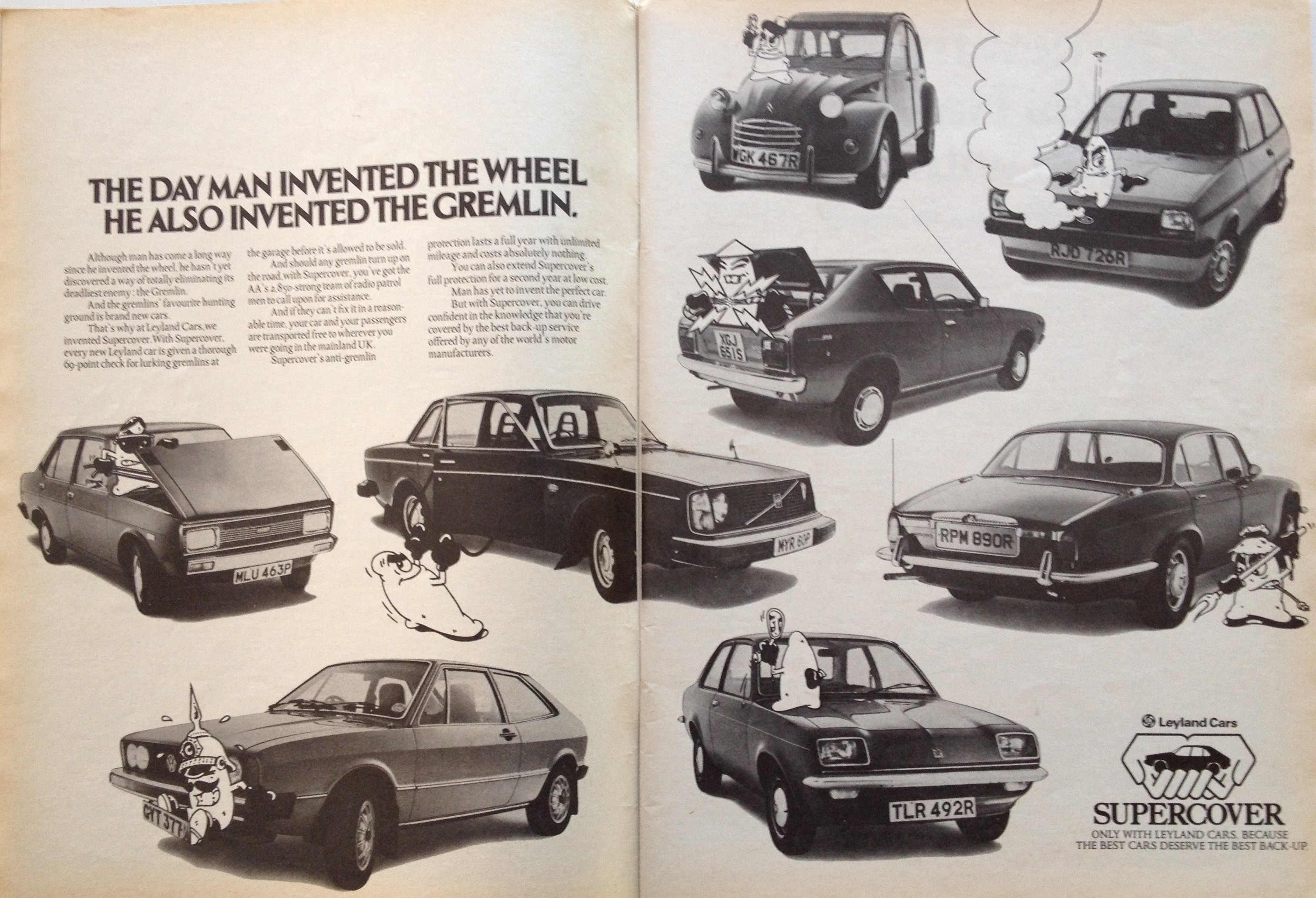 "Theme : Advertising – ""Leyland Cars Are Not Rubbish (Except Jaguars ..."