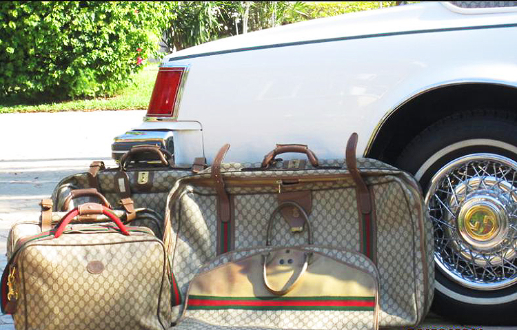 1979 Gucci-fitted luggage.