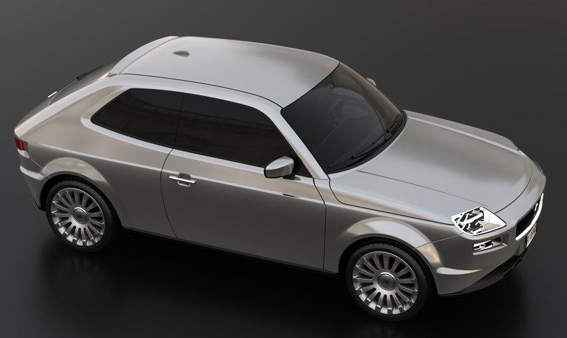 2013 design for Fiat 127 by David Obendorfer