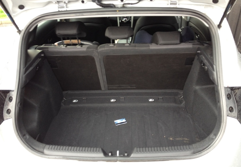 The boot is an unremarkable 378 litres and the rear seats are split 60:40.