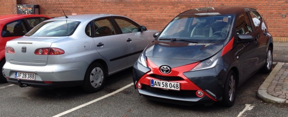 2014 Toyota Aygo and a Seat Cordoba. Compare. Contrast.
