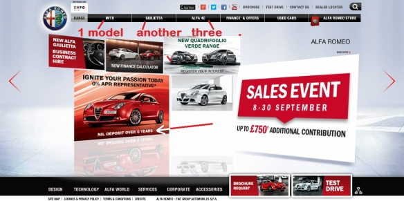 Alfa UK´s hard sell (that is, it is hard to sell Alfas).