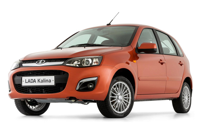 2013 Lada Kalina with a restyled front end by Steve Mattin.