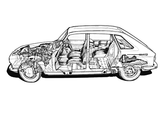 The 1965 Renault 16 has lots of parts.