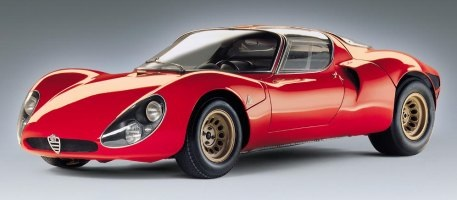 ...and the 1967 Alfa RomeoTipo 33 Stradale.
