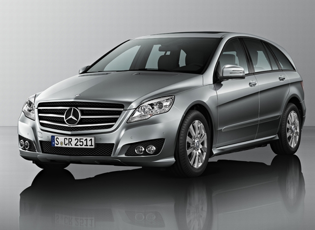 2011 Mercedes R-class. A car with good ride quality.