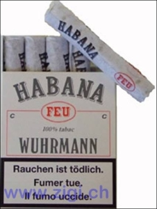 Wuhrmann Habana Feu cigars. Swiss excellence.