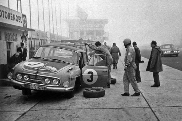 Racing a Tatra in 1967.