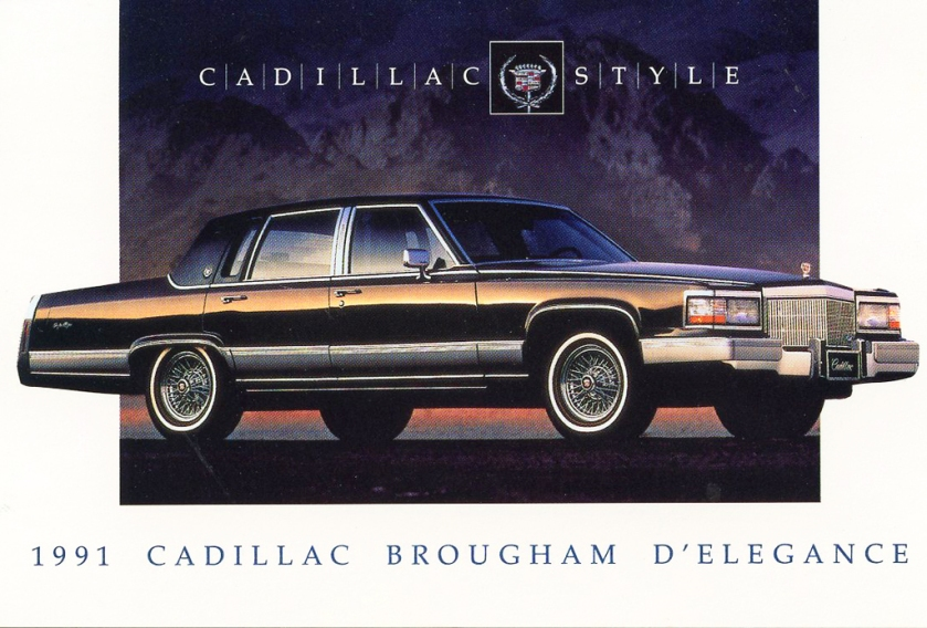 1991 Cadillac Fleetwood Brougham d'Elegance exterior. At least it was as big as its S-class peer.
