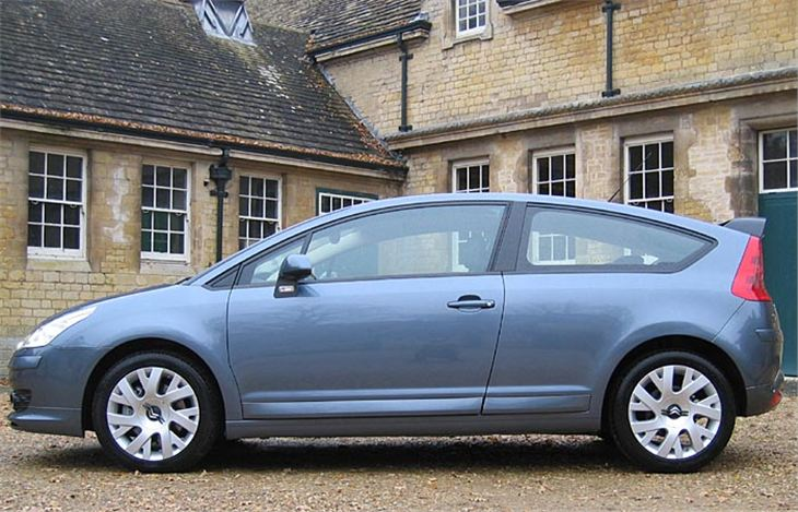 2004 Citroen C4 3-door in VTS trim. I have seen this car with white leather upholstery and silver paint. It looks so much more special in that trim than standard grey cloth and dull grey metallic.