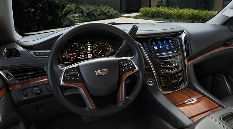 "2015 Cadillac Escalade ""jet black""interior. It´s not a car."