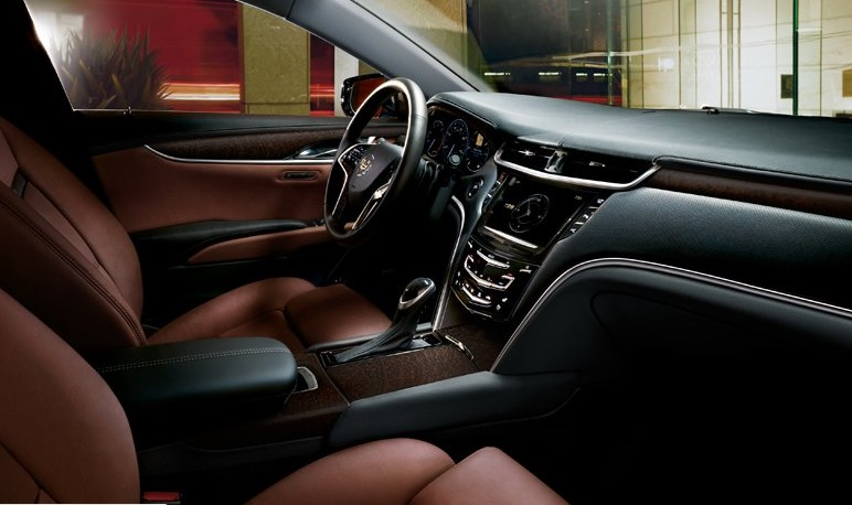 2015 Cadillax XTS interior. Two thirds cheaper than an S-class.
