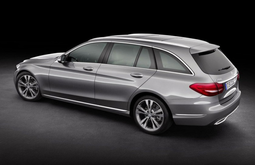 Flying up a motorway near you very soon. Reps rejoice. The 2015 Mercedes C-class estate.