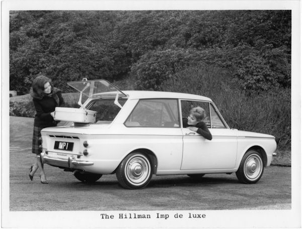 1963 Hillman Imp. It can carry lots of whiskey.