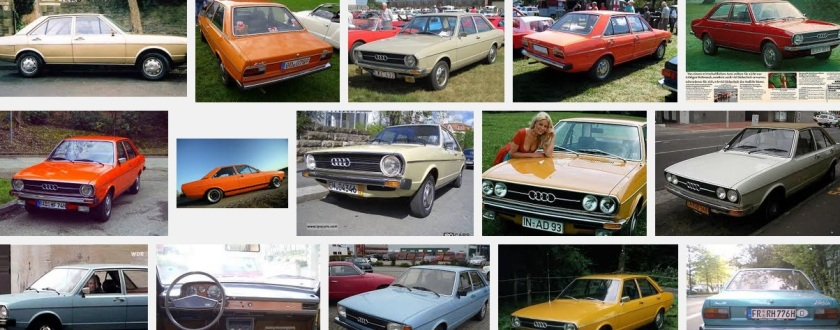 """1975 Audi colour range. The search term was """"1975 Audi 80"""". This was what was available back then."""