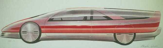 1987 Oldsmobile Aerotech II sketch.