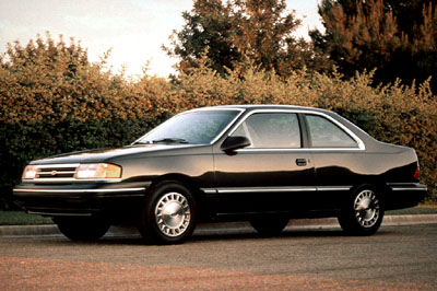 1990 Mercury Topaz two-door.