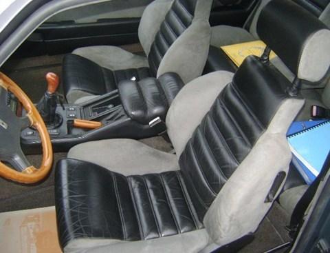 1993 Maserati Biturbo interior.
