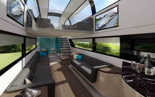 Priestmanngoode high speed train concept interior.