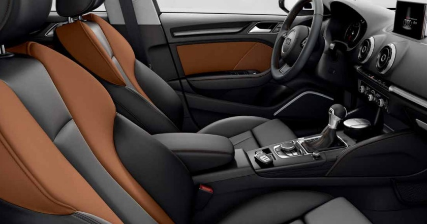 2015 Audi A3 saloon S-line interior.