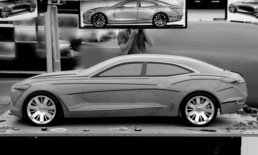 2015 Buick Avenir clay model.