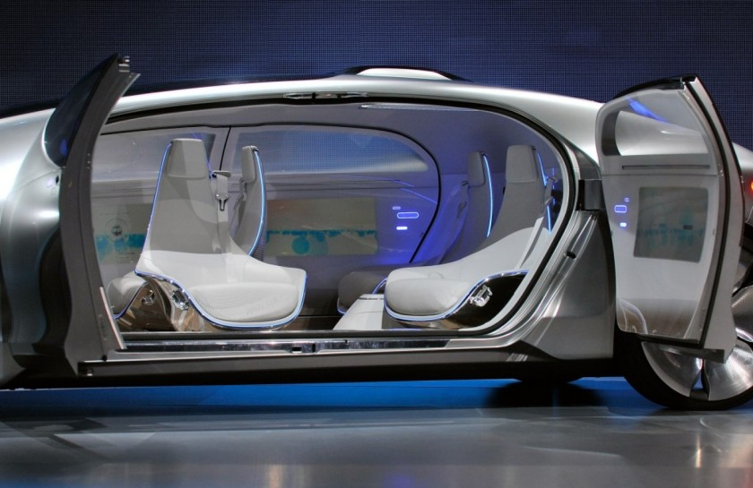 2015 Mercedes Benz passengerless car concep interior.
