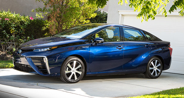 Nostril alert! Toyota's visually challenging hydrogen-powered Mirai.