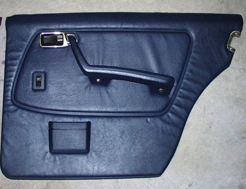 1985 Mercedes W-123 rear door panel.