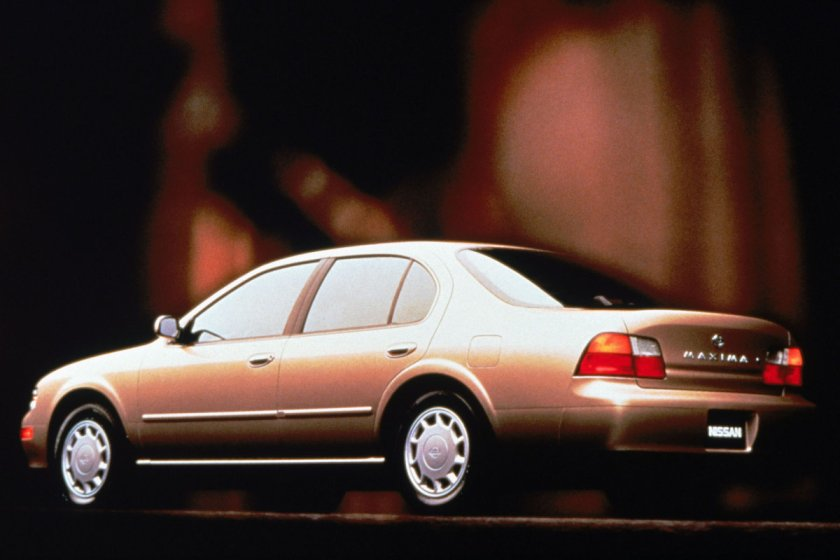 1995 Nissan Maxima: Nissan does Bauhaus.