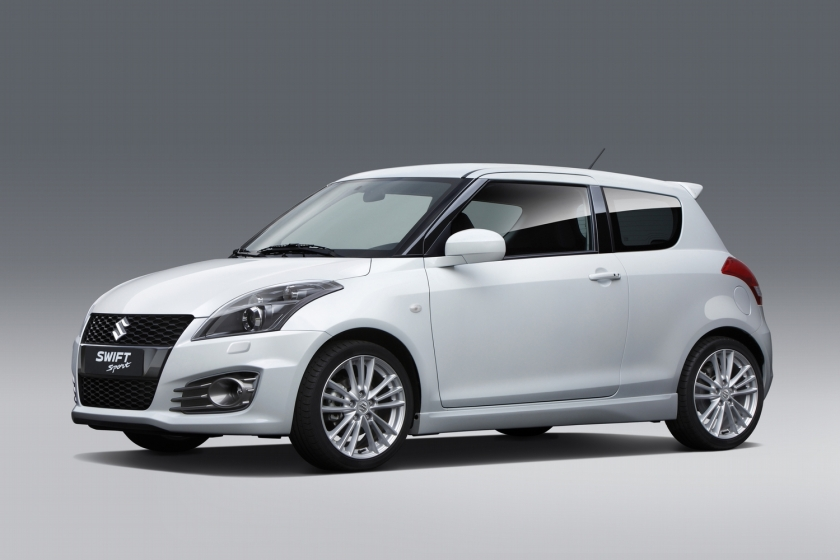 2013 Suzuki Swift: a much better attempt at a wraparound windscreen and on a much cheaper car.