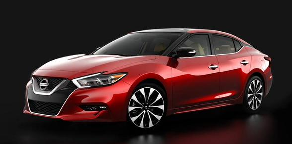 2016 Nissan Maxima: note the dodgy bump at the top of the A-pillar which is just painted black.