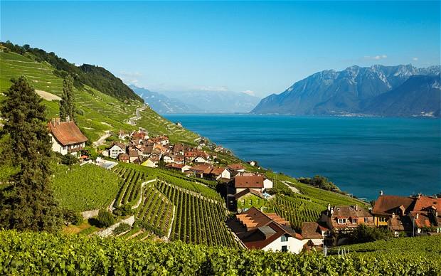 Lake Geneva: tranquil.