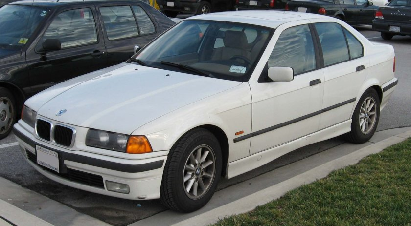 1991 BMW E-36 3-series. No chrome, flatter pressings, bigger. Mediocrity plus 20%.