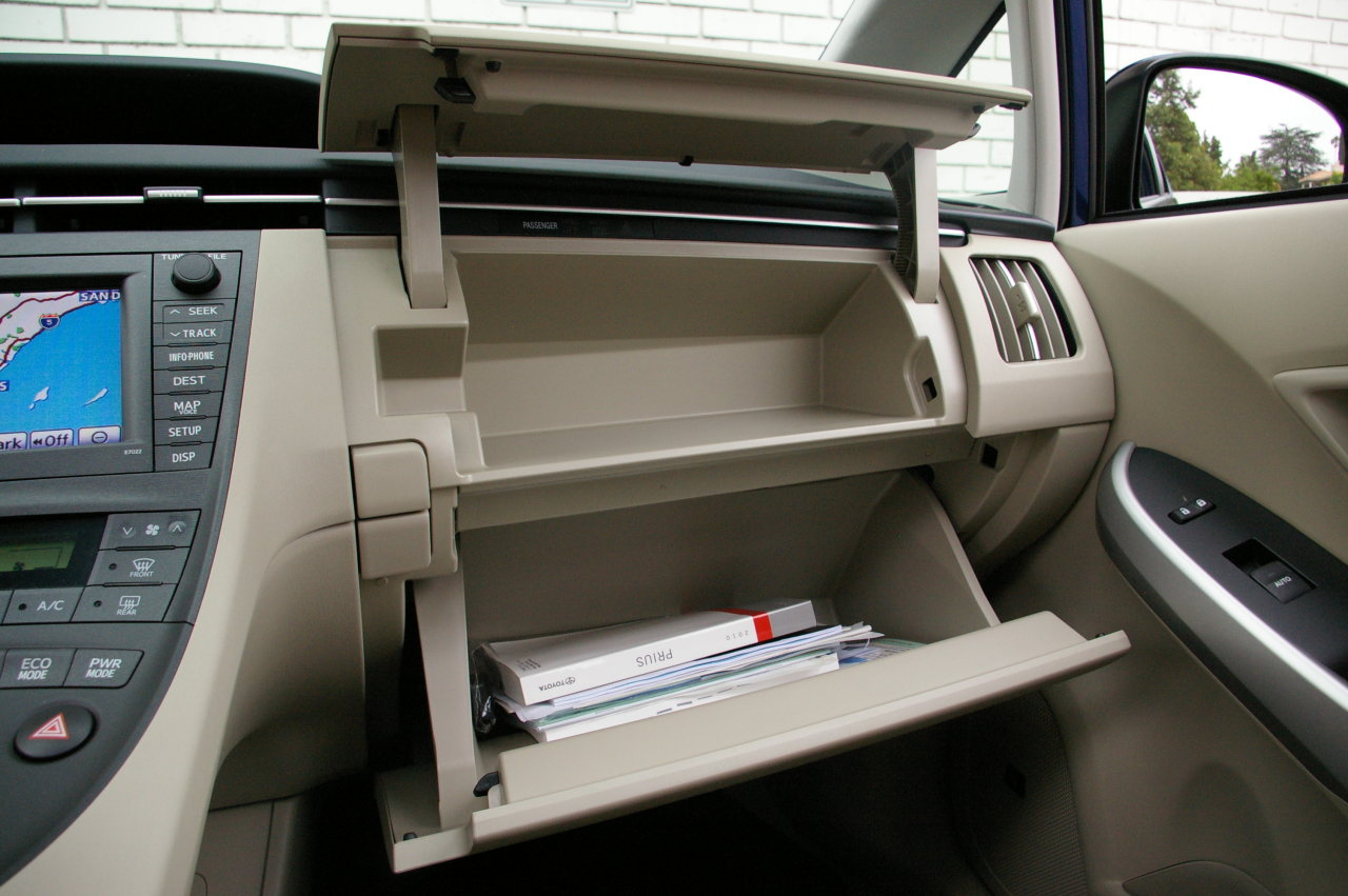 Picture of his Glovebox   car
