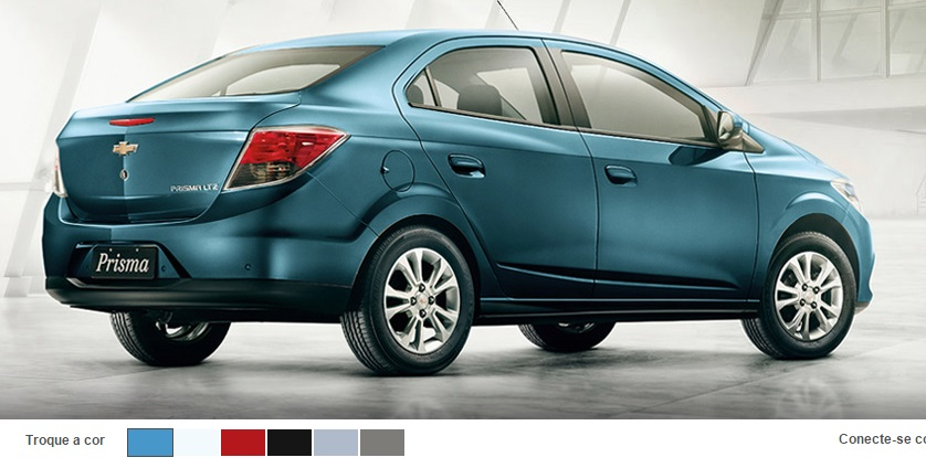 2015 Chevrolet Prisma colour palette.