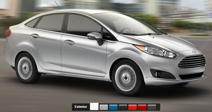 2015 Ford Fiesta sedan colour palette.